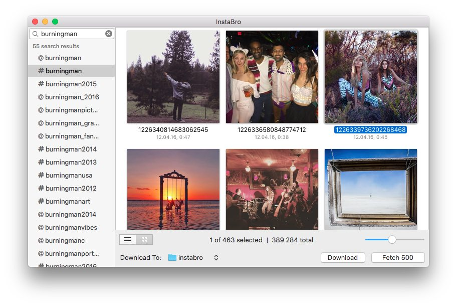 InstaBro | Free Instagram Browser and Downloader for Mac OS X